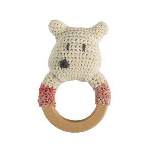 hochet ours polaire en crochet sebra