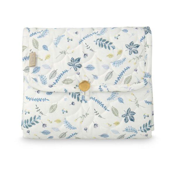 tapis-a-langer-pliable-motifs-feuilles-bleues-cam-cam