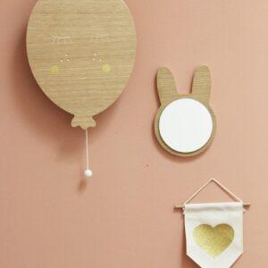 miroir-lapin-en-bois-april-eleven