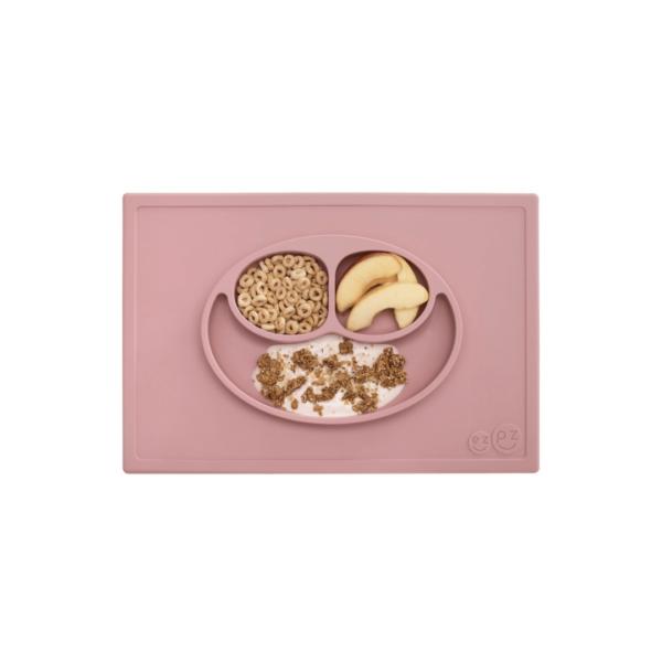 assiette-et-set-de-table-silicone-ezpz-rose