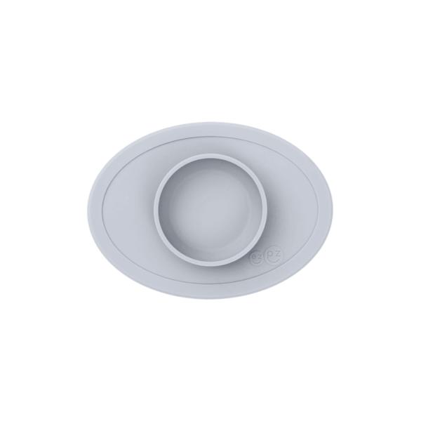 petit-bol-et-set-de-table-en-silicone-gris-clair
