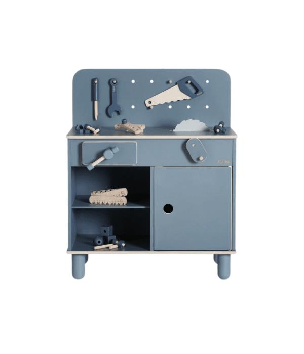 etabli-en-bois-vintage-enfant-bleu-flexa