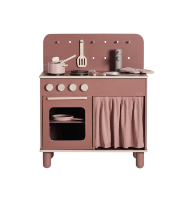 cuisine-enfant-en-bois-design-vintage-vieux-rose-flexa