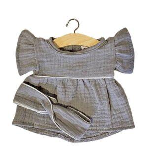robe-daisy-gris-double-gaze-coton-minikane