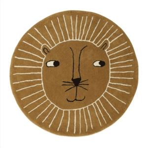 tapis rond avec tête de lion oyoy