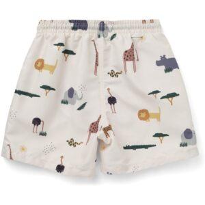 short de bain pour enfant motif safari liewood
