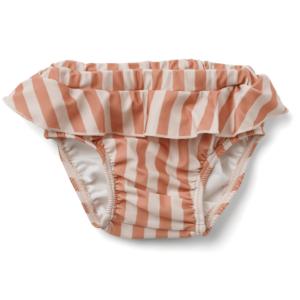 culotte de bain pour enfant rayures rose creme liewood