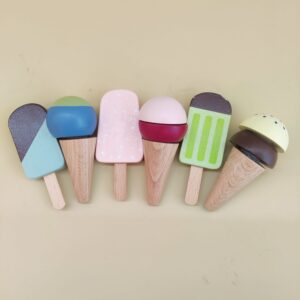 lot de glaces en bois