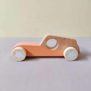 Voiture en bois - orange