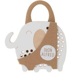 jouet à lacer en bois éléphant