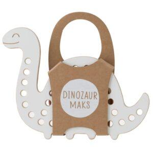 jouet à lacer en bois en forme de dinosaure pour enfants
