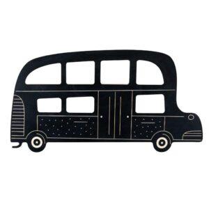 autobus en ardoise à colorier pour enfants
