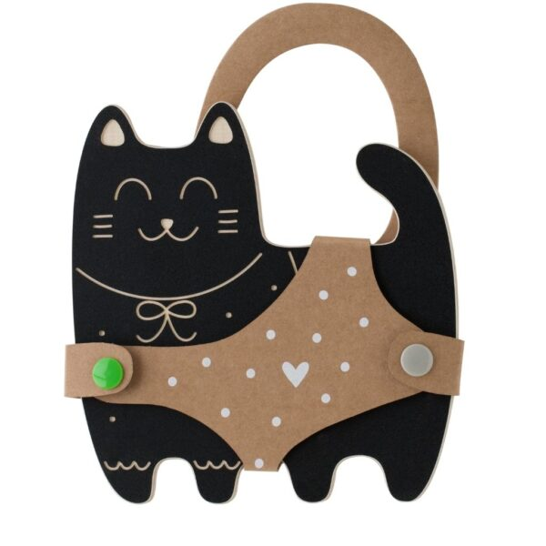 jouet en ardoise à colorier à la craie en forme de chat