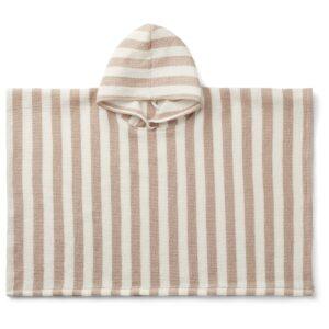 poncho à capuche et rayures pour enfant