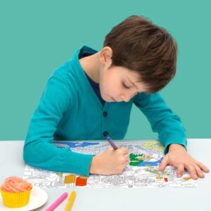 18 sets de table à colorier