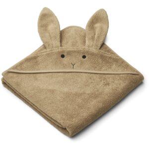 grande cape de bain avec tête de lapin en coton bio pour enfant