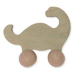 jouet en bois à roulettes en forme de dinosaure pour bébé
