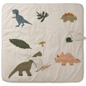 Tapis d'activité en coton bio avec motifs dinosaures